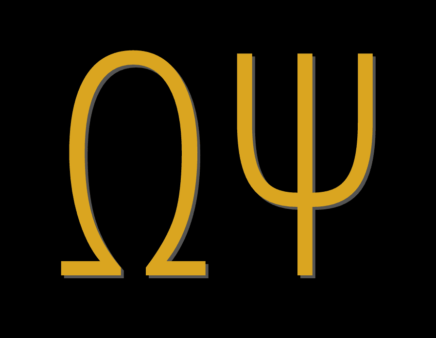 Omega Psi in greek letters
